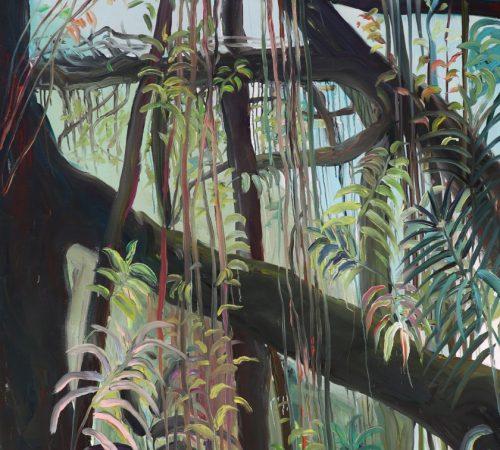 Jana-Bednarova_04_Mawkyrnat-Rootbridges-acrylic-on-canvas-200-x-195-cm-2019