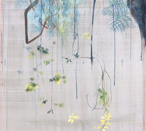 Jana-Bednarova_07_Priesvit-3-Hengul-Haital-Pigments-on-mublerry-silk-200-x-100-cm-2020