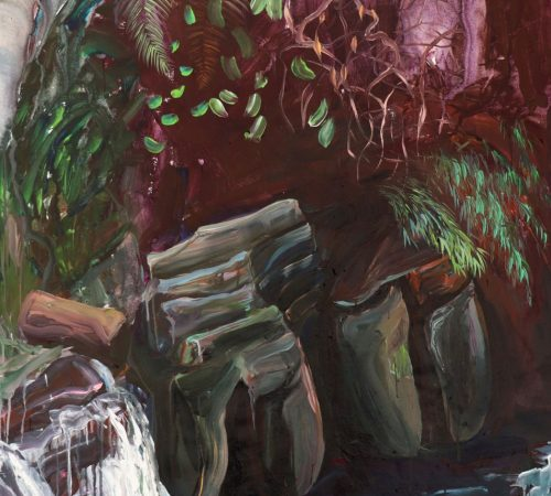 Jana-Bednarova_08_Stones-at-Elephant-Falls-Acrylic-on-Canvas-125-x-100-cm-2020